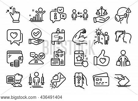 Vector Set Of Like Hand, Journey Path And Approved Checkbox Line Icons Set. Calendar Report, Money W