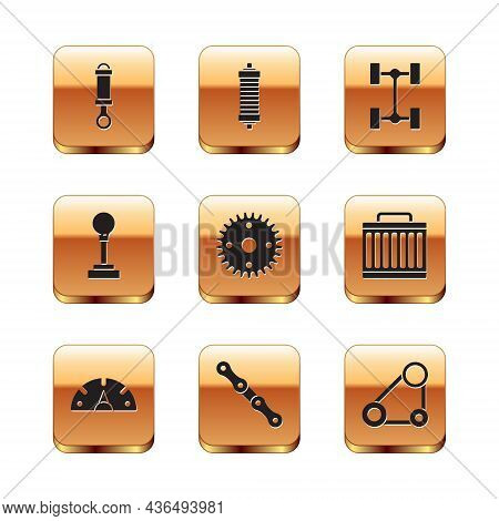 Set Shock Absorber, Speedometer, Car Chain, Gear, Shifter, Chassis Car, Timing Belt Kit And Icon. Ve