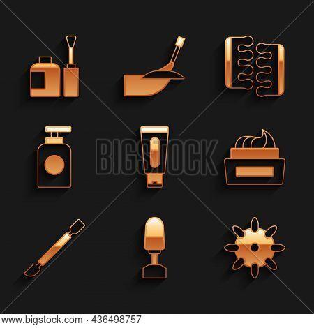 Set Tube Of Hand Cream, Milling Cutter For Manicure, False Nails, Bottle Polish, Cuticle Pusher, Toe