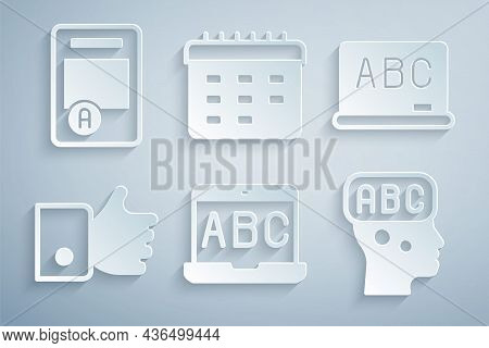 Set Foreign Language Online Study, Chalkboard, Hand Like, Learning Foreign Languages, School Timetab