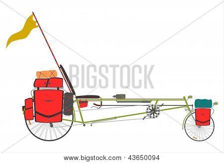 Tourist Recumbent Bike.