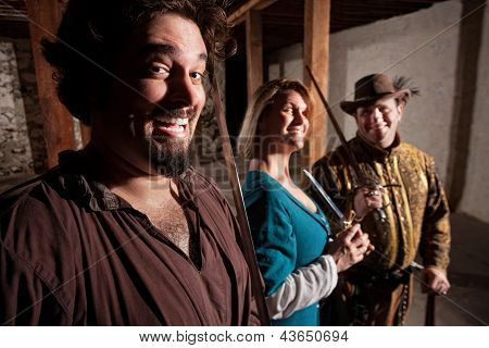 Giggling Medieval Characters