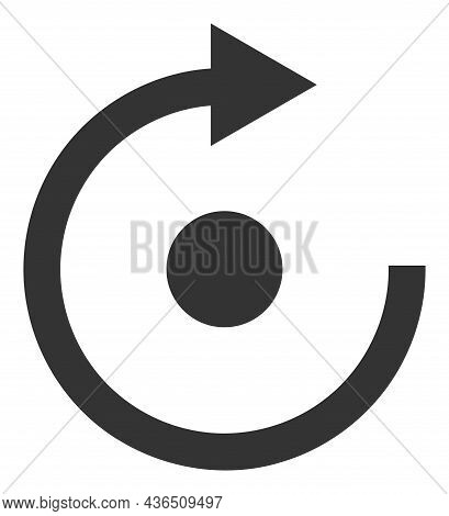 Rotate Vector Illustration. A Flat Illustration Design Of Rotate Icon On A White Background.