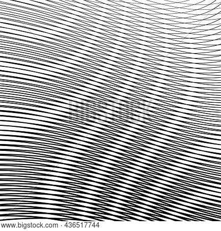 Gray Geometric Digital Abstract Background With Wave Texture. Vector Illustration For Created Backgr