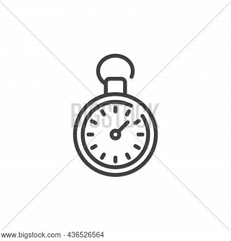 Stopwatch Time Line Icon. Linear Style Sign For Mobile Concept And Web Design. Stopwatch Outline Vec