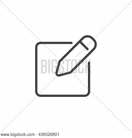 Edit Pen Line Icon. Linear Style Sign For Mobile Concept And Web Design. Pen, Pencil, Writing Outlin