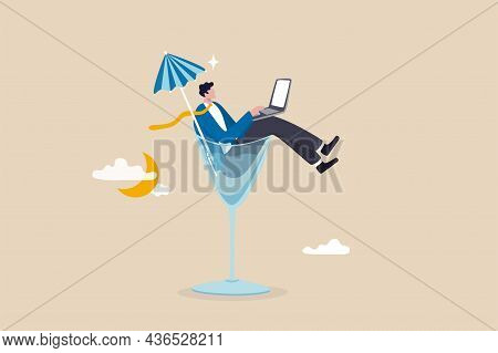 Work Anywhere Anytime, Hybrid Work Or Flexible Hour For Employee Choice To Choose Where And When To