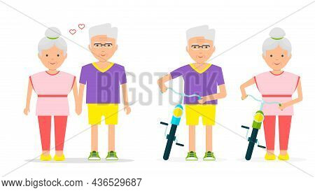 Elderly Lifestyle. Seniors Activities. Grandparents Healthy Lifestyle.