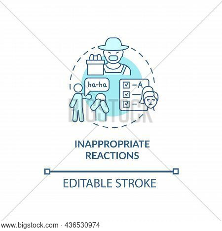 Inappropriate Reactions Concept Icon. Hyperactive-impulsive Sign Abstract Idea Thin Line Illustratio
