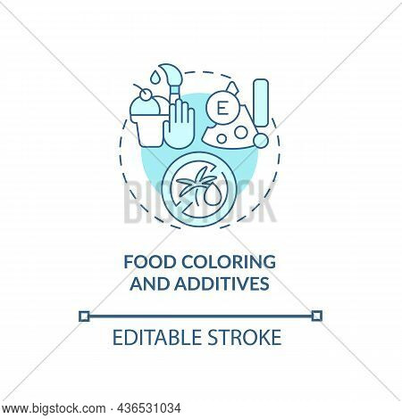 Food Coloring And Additives Concept Icon. Adhd Diet Abstract Idea Thin Line Illustration. Artificial