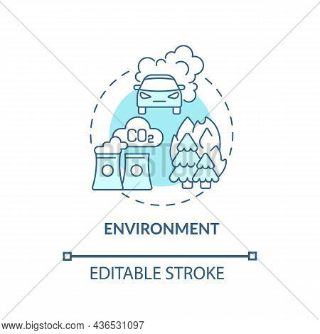 Environment Concept Icon. Adhd Cause Abstract Idea Thin Line Illustration. Gene-environment Interact
