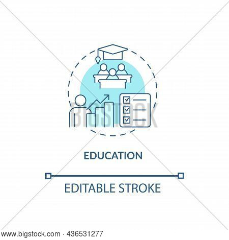 Education Concept Icon. Treatment For Adhd In Adults Abstract Idea Thin Line Illustration. Limiting