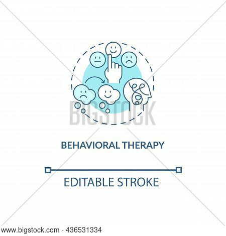 Behavioral Therapy Concept Icon. Treatment For Adhd In Adults Abstract Idea Thin Line Illustration.