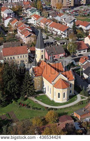 VELIKA GORICA, CROATIA - JULY 10, 2007: Parish Church of the Annunciation of the Virgin Mary in Velika Gorica, Croatia