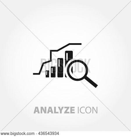 Optimization Icon. Chart Analyze Design Element. Optimization