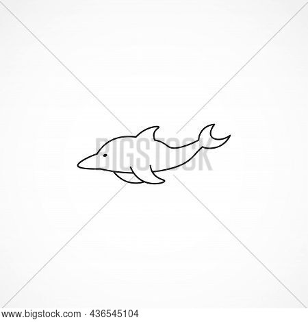 Dolphin Line Icon. Dolphin Isolated Line Icon
