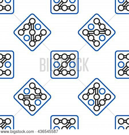 Line Graphic Password Protection And Safety Access Icon Isolated Seamless Pattern On White Backgroun
