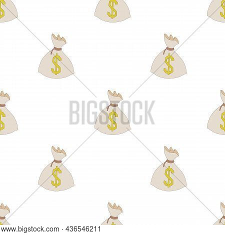 Money Bag Or Sack Pattern Seamless Background Texture Repeat Wallpaper Geometric Vector