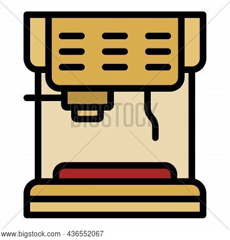 Classic Coffee Machine Icon. Outline Classic Coffee Machine Vector Icon Color Flat Isolated