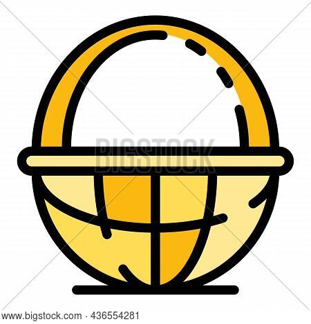 Wood Wicker Icon. Outline Wood Wicker Vector Icon Color Flat Isolated