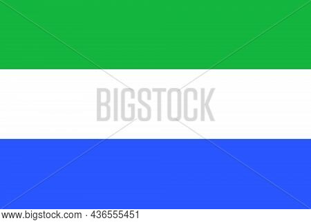 The Flag Of Sierra Leone Is A Country In West Africa On The Atlantic Ocean