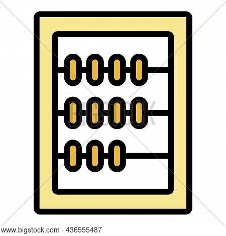 Board Calculator Icon. Outline Board Calculator Vector Icon Color Flat Isolated