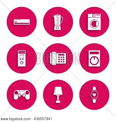 Set Telephone, Table Lamp, Smart Watch Showing Heart Beat Rate, Remote Control, Gamepad, Washer And