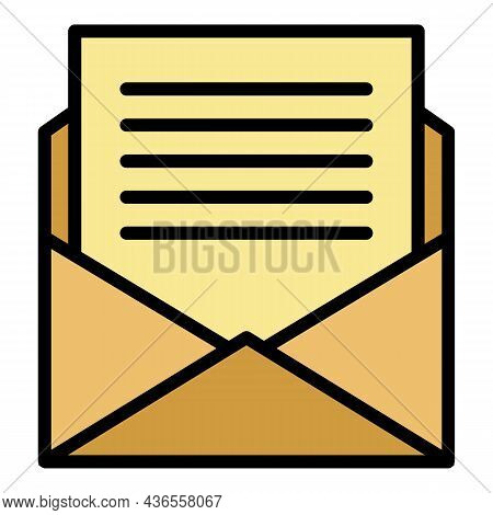 Mail Celebrity Invitation Icon. Outline Mail Celebrity Invitation Vector Icon Color Flat Isolated