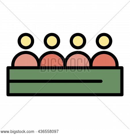 Press Conference Icon. Outline Press Conference Vector Icon Color Flat Isolated