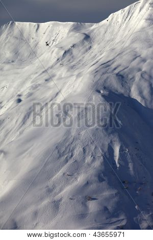 Ski off-piste. Caucasus Mountains Georgia ski resort Gudauri. poster