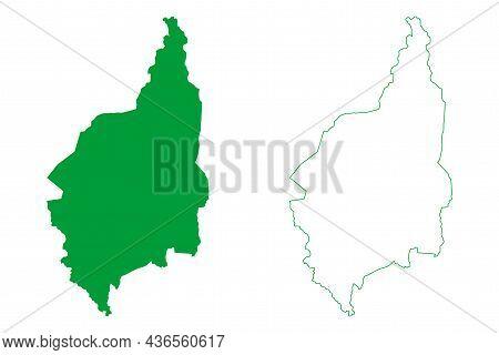 Andorinha Municipality (bahia State, Municipalities Of Brazil, Federative Republic Of Brazil) Map Ve