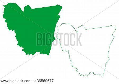 Filadelfia Municipality (bahia State, Municipalities Of Brazil, Federative Republic Of Brazil) Map V