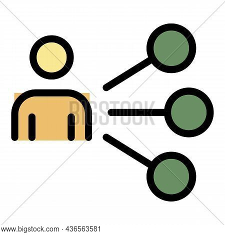 Man Select New Job Icon. Outline Man Select New Job Vector Icon Color Flat Isolated