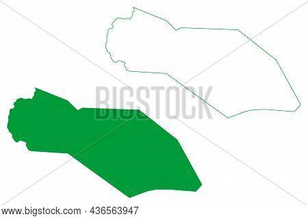 Varzea Nova Municipality (bahia State, Municipalities Of Brazil, Federative Republic Of Brazil) Map
