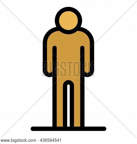 Suffer Sad Man Icon. Outline Suffer Sad Man Vector Icon Color Flat Isolated