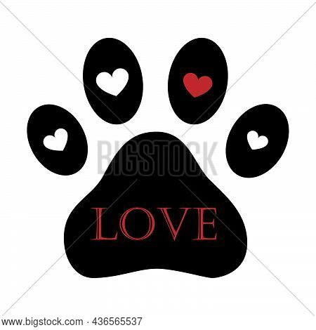 Pet Shop Logo. Dog And Cat Icon. Design Of Labels For A Pet Shop, A Zoo. Vector Illustration Of A Pa