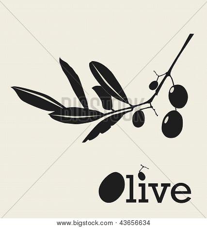 Stylized Olive Branch