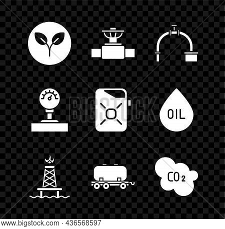 Set Bio Fuel, Industry Pipe And Valve, Oil Rig With Fire, Railway Cistern, Co2 Emissions In Cloud, G