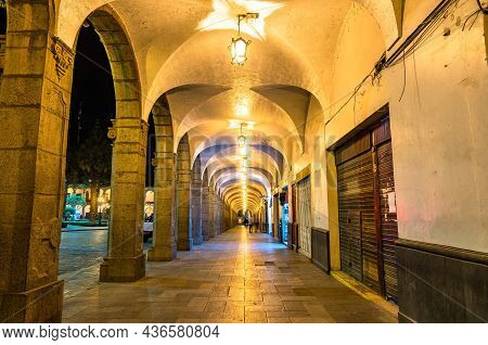 Archway At The Plaza De Armas In Arequipa In Peru