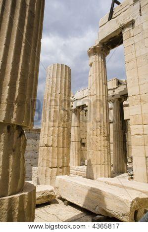 Athina Columns Of Parthenon