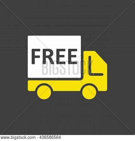 Free Shipping Glyph Icon. E-commerce Sign. Graph Symbol For Your Web Site Design, Logo, App, Ui. Vec