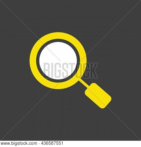 Search Magnifier Glyph Icon. Magnifying Glass Symbol. Zoom Pictogram. E-commerce Sign. Graph Symbol