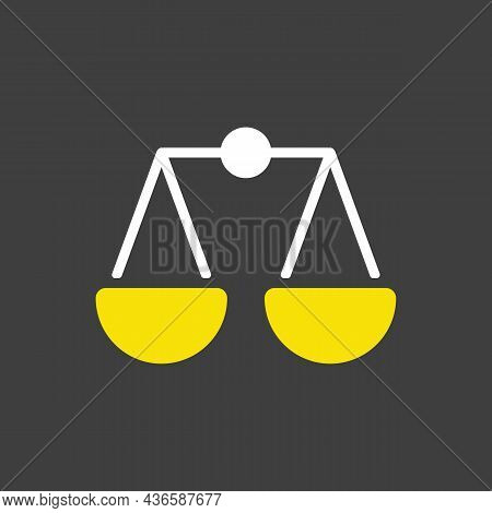Scales Glyph Icon. E-commerce Sign. Graph Symbol For Your Web Site Design, Logo, App, Ui. Vector Ill