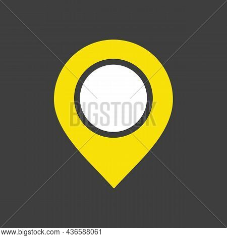 Pin Map Vector Glyph Icon. Map Pointer. Map Markers. E-commerce Sign. Graph Symbol For Your Web Site