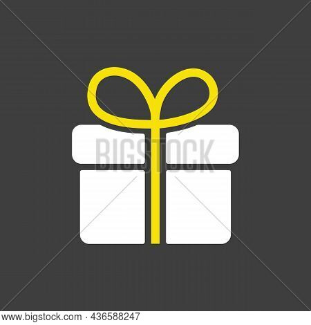 Gift Vector Glyph Icon. E-commerce Sign. Graph Symbol For Your Web Site Design, Logo, App, Ui. Vecto