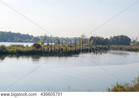 Autumn Colors In Different Panorama Shots In Green And Brown Tones Along The Danube Near Bavaria