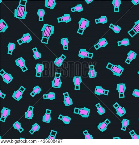 Line Guitar Icon Isolated Seamless Pattern On Black Background. Acoustic Guitar. String Musical Inst