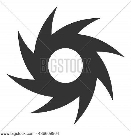 Turbine Vector Illustration. A Flat Illustration Design Of Turbine Icon On A White Background.