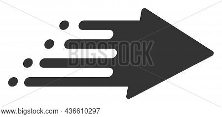 Speed Process Vector Icon. A Flat Illustration Design Of Speed Process Icon On A White Background.