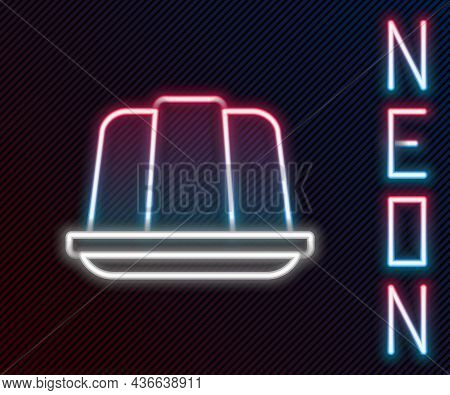 Glowing Neon Line Jelly Cake Icon Isolated On Black Background. Jelly Pudding. Colorful Outline Conc